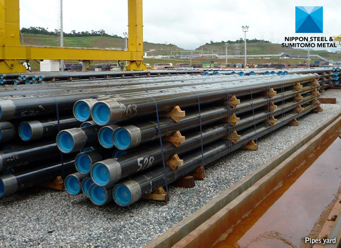 OCTG & Line Pipes in Yard